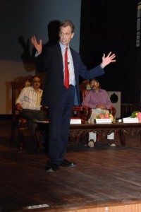 David Wiebers at Mangalore University, November 2015